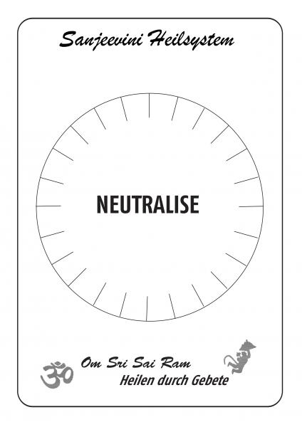 Neutralise DIN A3, hochwertiger Druck, laminiert
