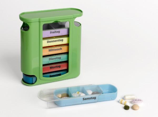 Tablettendose - 7-Tage-Spender - 4 Fächer/Tag
