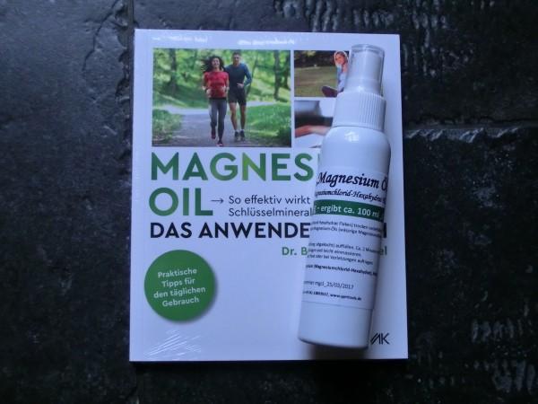 """Set: Anwenderbuch """"Magenesiumöl"""" + Sprühflasche mit Magnesiumchlorid Flakes"""