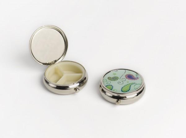 Pillendose für den Tag mit Spiegel (innen)