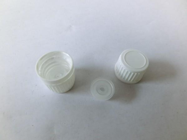 100 St. Globuliverschluss DIN GL18 für Braunglasfläschchen