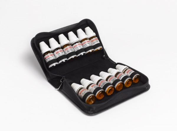 Taschenapotheke, Echtleder schwarz, für 12 DHU Gläser