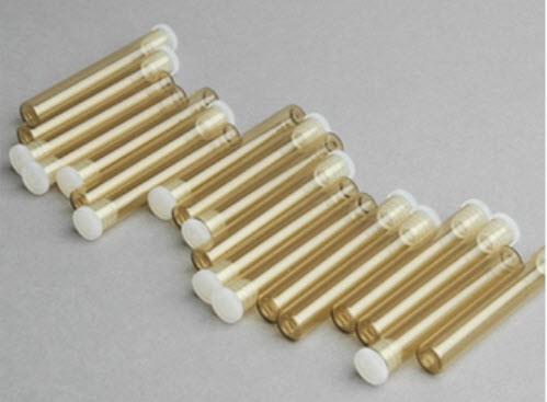 Flachbodengläser Braunglas (UV-Schutz) für ca. 1,5g Globuli 30 Stück