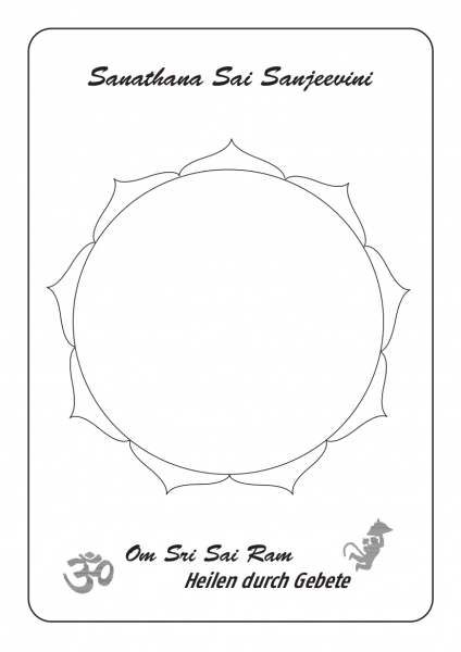 Leerer Lotus A4, hochwertig laminiert