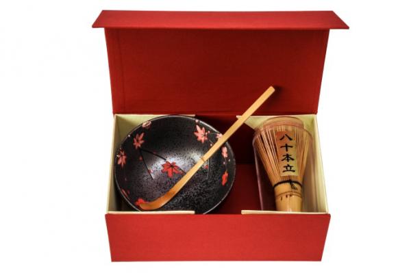 Matcha Geschenkbox mit Schale Nagano, Besen und Löffel