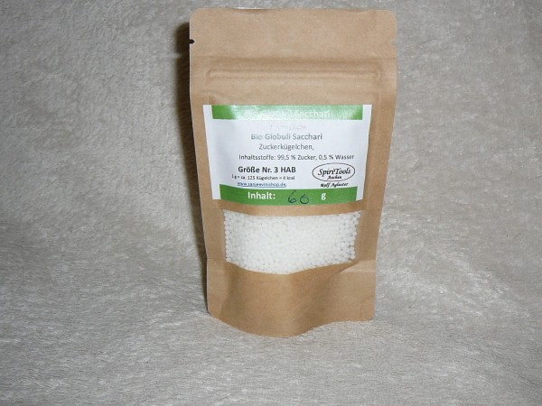 Neutrale Bio-Globuli sacchari, laktosefrei, 50g Nr. 5 HAB im Standbodenbeuteli